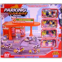 賽車專用加油站停車場組合套件禮盒款裝