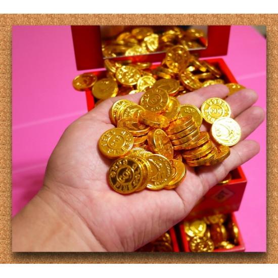 2.3公分仿古吉祥如意金幣巧克力(一公斤裝)