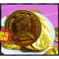 6公分仿女王金幣巧克力一公斤裝