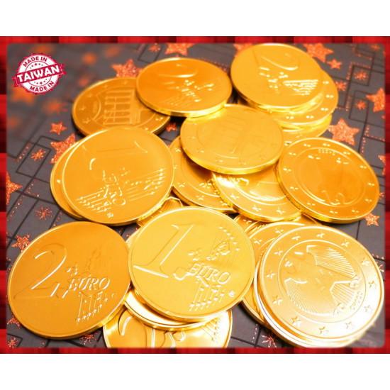 史上最大7.5公分歐元金幣巧克力一台斤裝-台灣製造