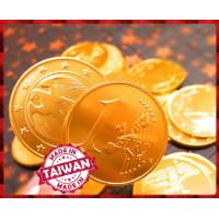 史上最大7.5公分歐元金幣巧克力單塊裝-台灣製造
