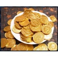 最頂級4公分女王頭金幣巧克力(一台斤裝)厚鋁箔金材質